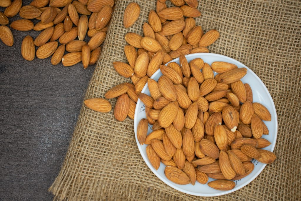 Almond food for hair growth