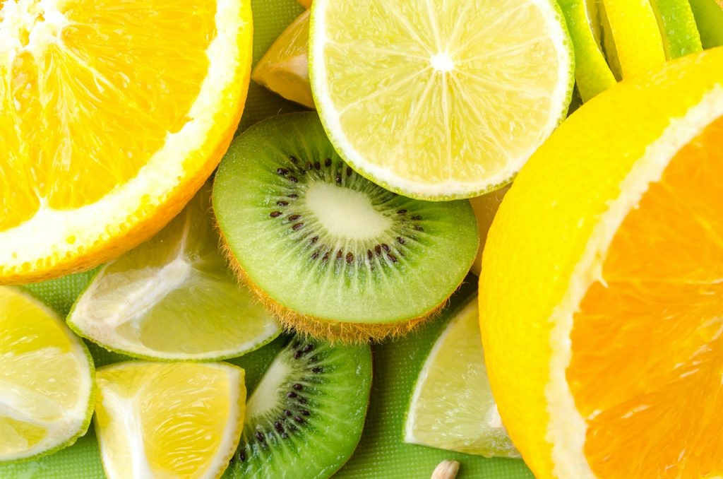 Bunch of citrus fruits vitamin for hair growth