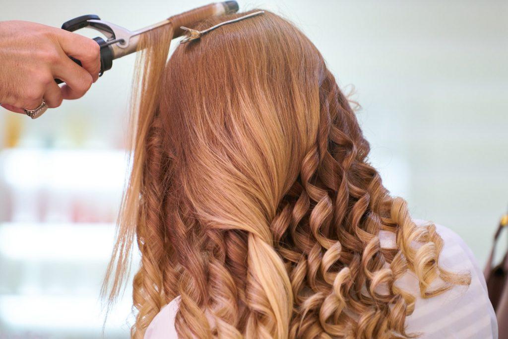 Hair iron curling red brown hair Habits Hair Loss
